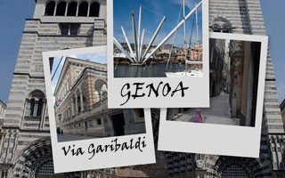 The restored antique harbour of Genoa, Italy